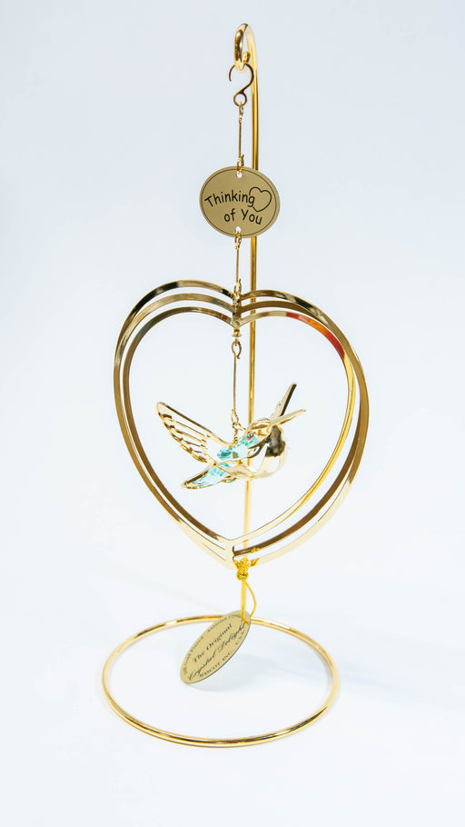 Ornament - Humming Bird in Heart - Thinking of You - Crystal