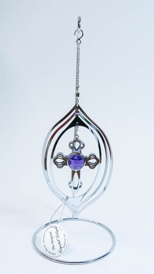 Wind Spiral - Cross - Purple Crystal