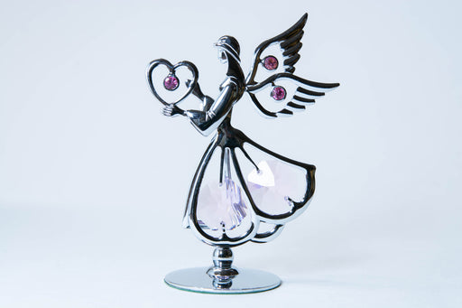 Figurine - Angel with Heart - Crystal