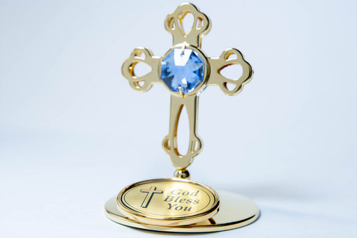 Figurine - Cross mini - God Bless You- Gold