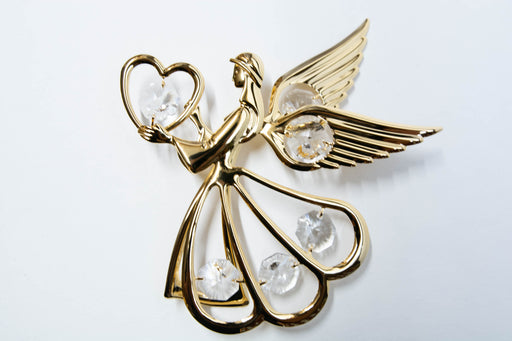 Night Light - Angel Side with Heart - Clear Crystal