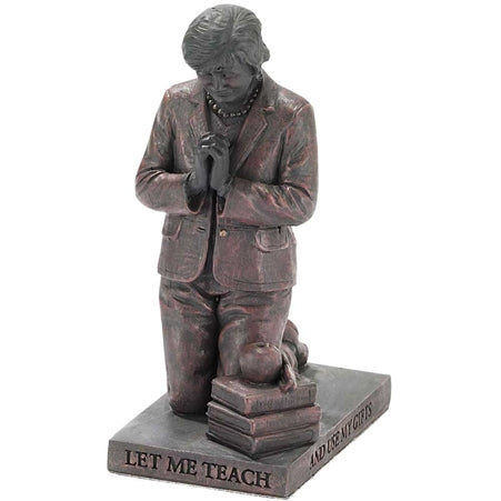 Figurine-Teacher Praying-Bronze Resin