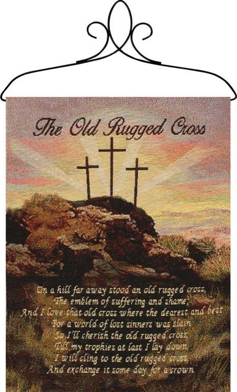 Bannerette-Old Rugged Cross-13x18