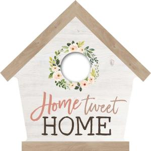 "Plaque-Bird House-Home Tweet Home-6""x6"""