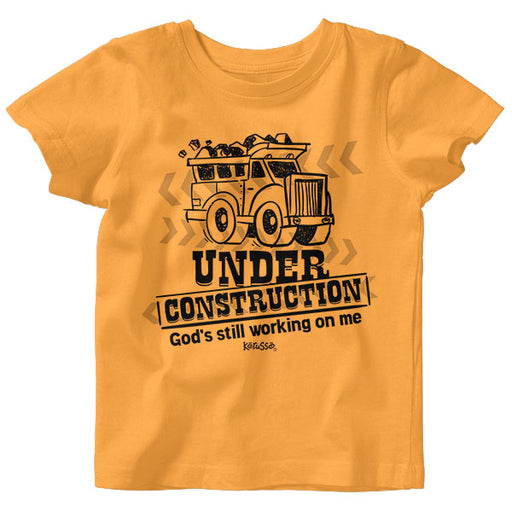Baby T-shirt-Under Construction-Gold