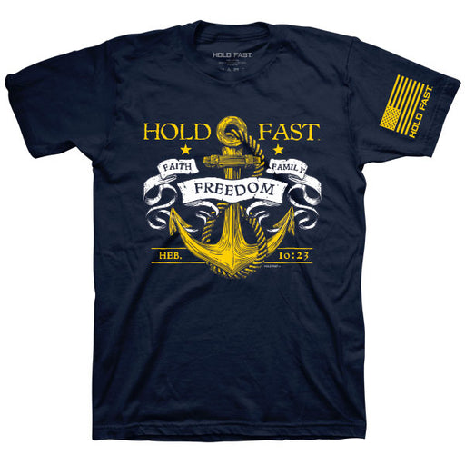 T-Shirt-Hold Fast Anchor-Navy