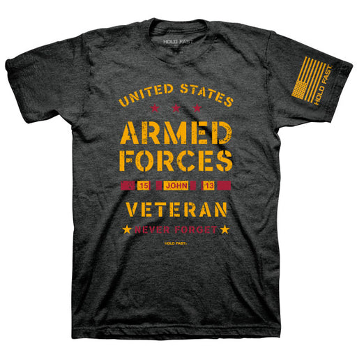 T-Shirt-Veteran-Charcoal Heather