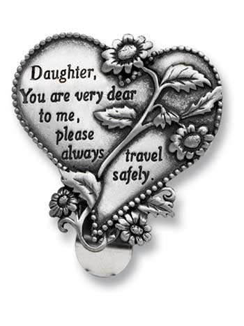 Visor Clip- Heart-Daughter