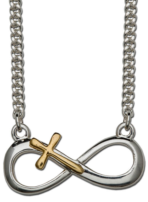 Pendant- Infinity Cross-Sterling