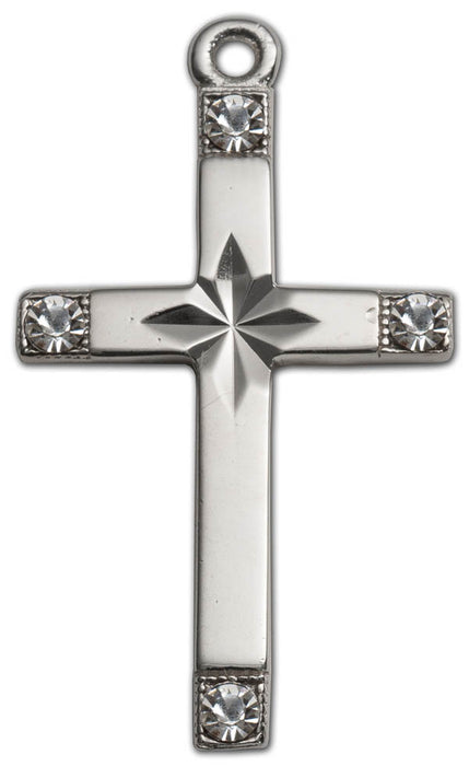 Pendant- Cross w/cz- Sterling