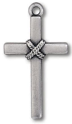 Pendant- Cross/Rope-Pewter