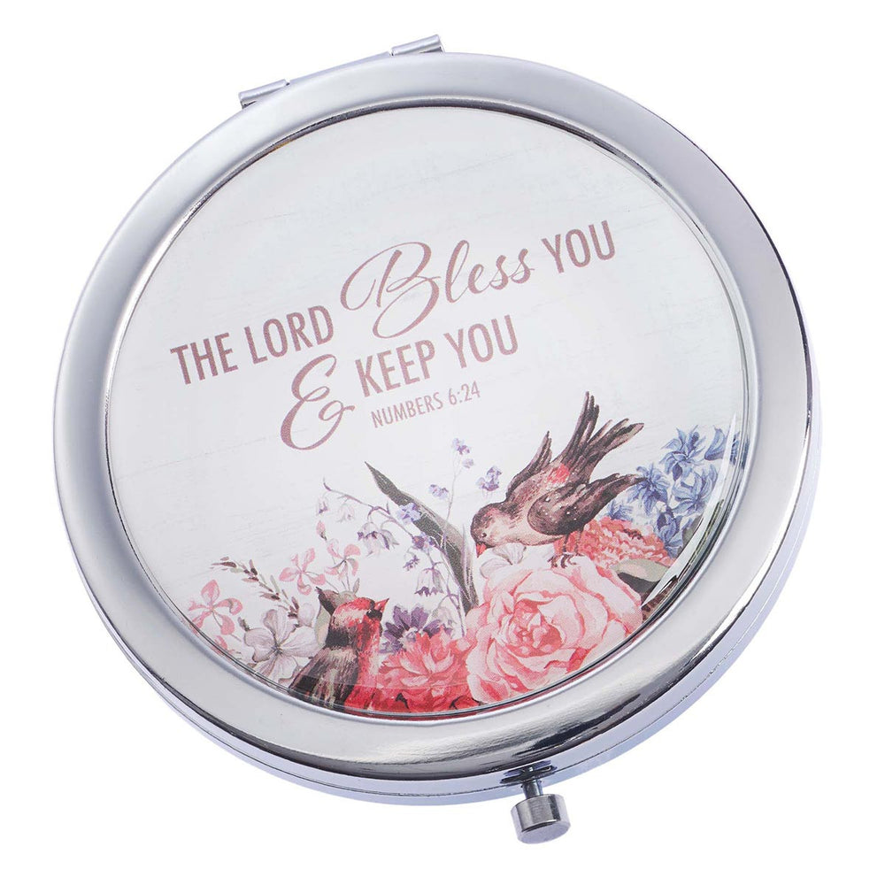 Mirror-Compact-Bless You & Keep You-Gift Boxed