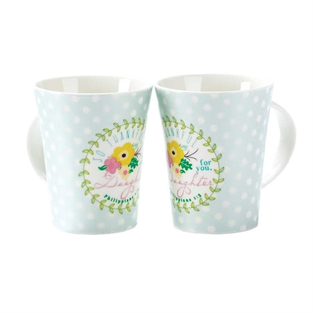Mug-Daughter-Light Blue/Floral
