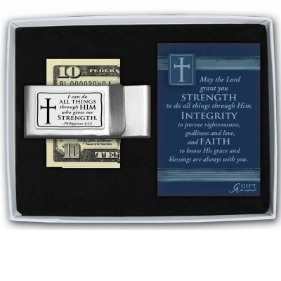 Money Clip-I Can Do All Things-Cross