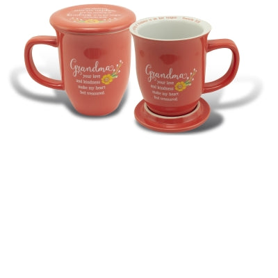 Mug With Coaster-Grandma-Love/Kindness