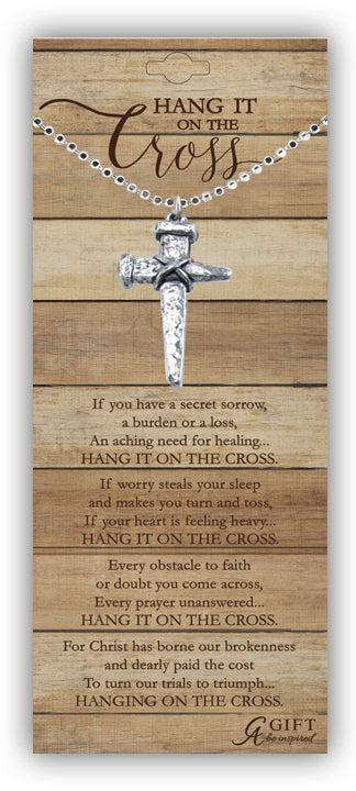 Pendant-Cross/Nail With Hang It On the Cross Poem