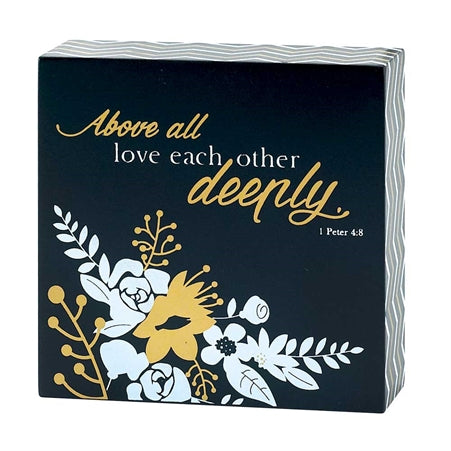 Plaque-Above All Love Each Other-Black