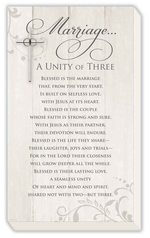 Plaque-Marriage...A Unity of Three
