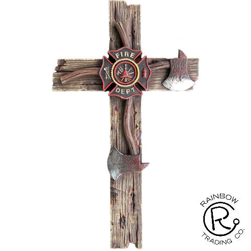 Wall Cross-Fireman-12.5 Inches