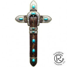 Wall Cross-Buckle/Turquoise-Western