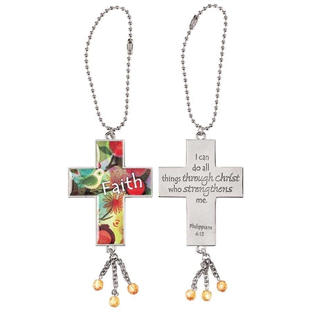 Car Charm-Cross/Faith-Metal