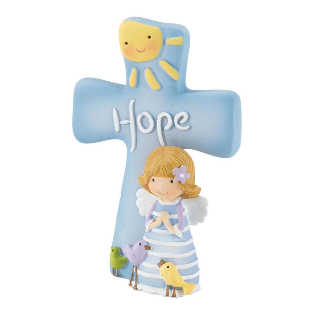 Figurine-Cross-Hope-Floral/Angel