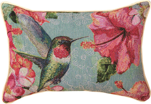 Pillow-Hummingbird/Hibiscus