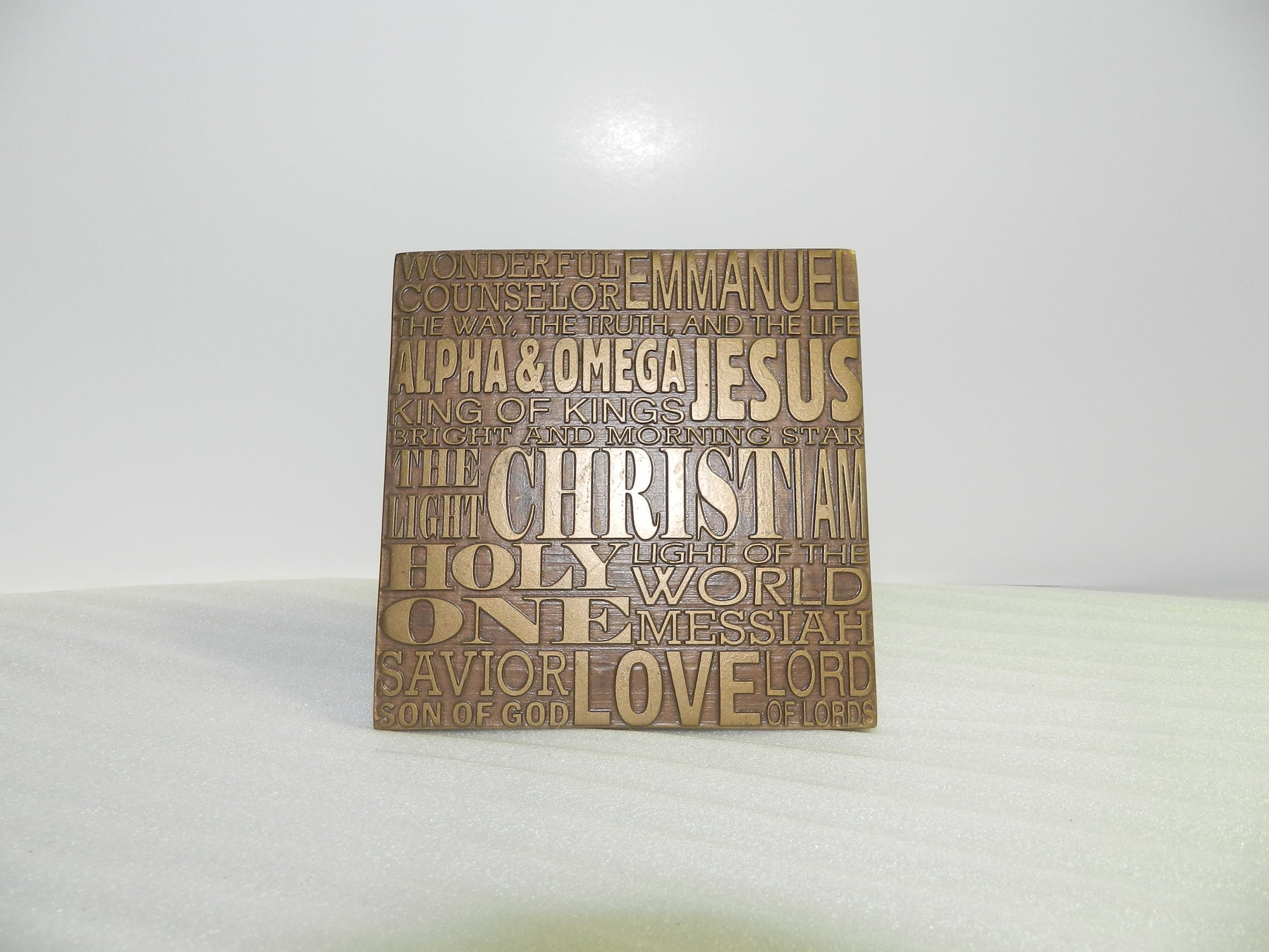 Plaque-Names of Jesus-Bronze Resin