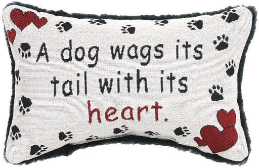 Pillow-Dog Wags Tail with Heart