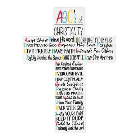 Wall Cross-ABCs of Christianity