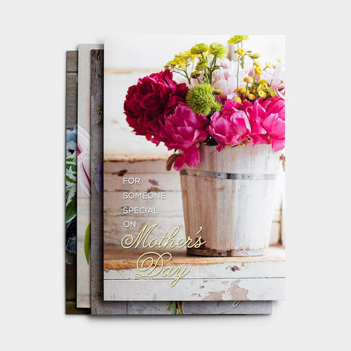 Mother's Day Bouquets-12 Boxed Cards-KJV