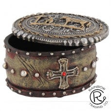 Trinket Box- Cowboy Praying