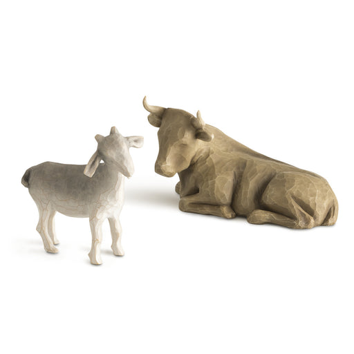 Figurine-Willow Tree-Ox & Goat-2 Piece Set