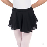 Eurotard Girls Chiffon Mock Wrap Pull On Skirt - Dancetastic Dancewear
