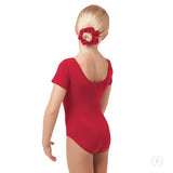 Online Only***Eurotard Girls Cotton Short Sleeve Leotard - Dancetastic Dancewear