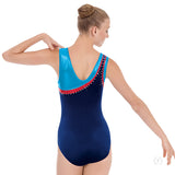 Eurotard Womens Phoenix Soft Velvet Rhinestoned Gymnastics Leotard - Dancetastic Dancewear