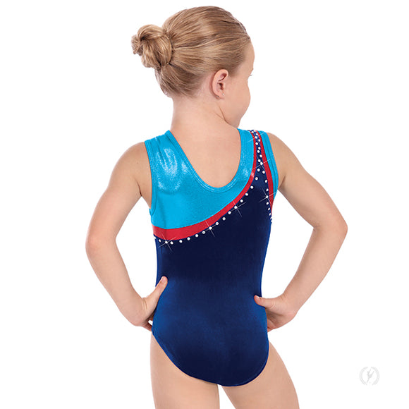 Eurotard Girls Phoenix Soft Velvet Rhinestoned Gymnastics Leotard - Dancetastic Dancewear