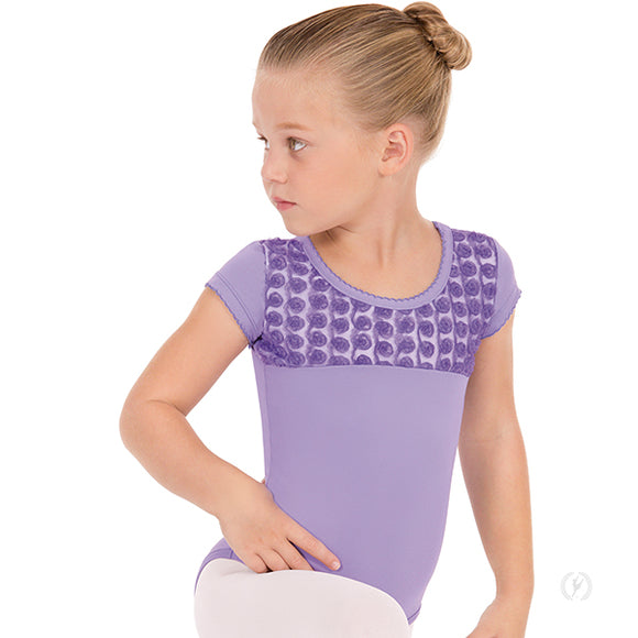 Eurotard Girls Rosette Short Sleeve Leotard - Dancetastic Dancewear