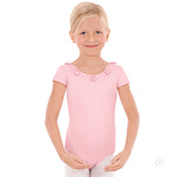 Eurotard Girls Flower and Pearl Short Sleeve Leotard - Dancetastic Dancewear