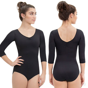 Eurotard Womens Pinch Front 3/4 Sleeve Leotard with Tactel® Microfiber - Dancetastic Dancewear