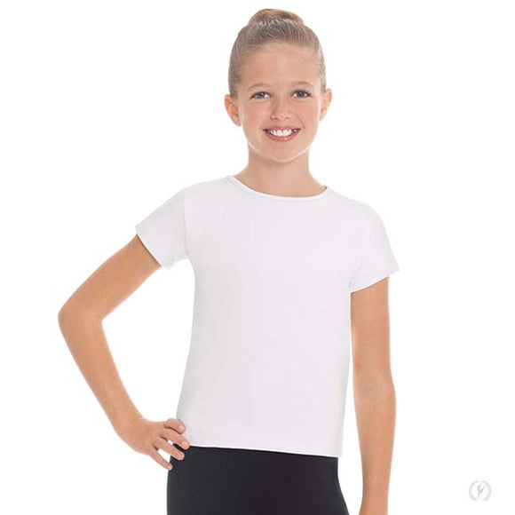 Eurotard Youth Unisex Microfiber Crew Neck Short Sleeve Dance Top - Dancetastic Dancewear