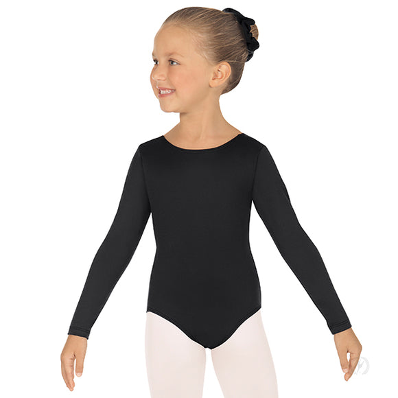 Eurotard Girls Long Sleeve Leotard with Tactel® Microfiber - Dancetastic Dancewear