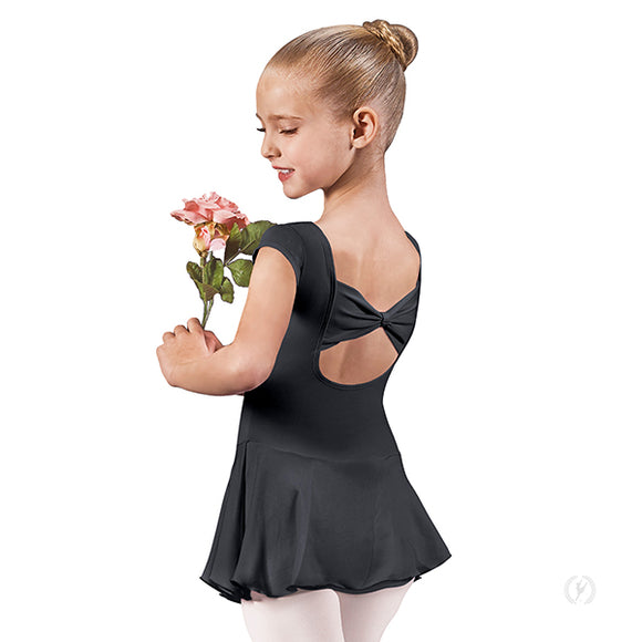 Eurotard Girls Bow Back Cap Sleeve Dance Dress with Tactel® Microfiber - Dancetastic Dancewear