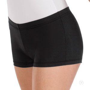 Eurotard Adult Black Dance Shorts - Dancetastic Dancewear