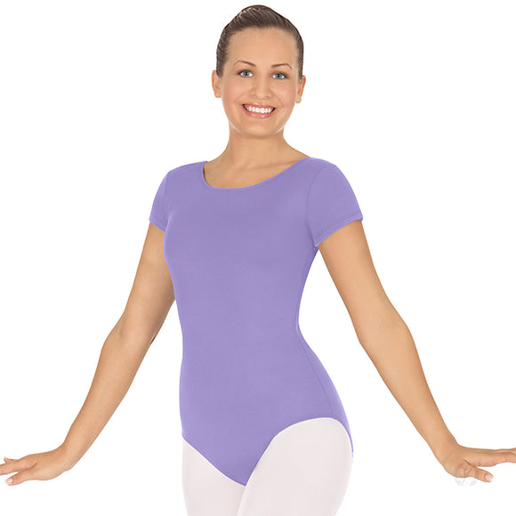 Eurotard Womens Short Sleeve Leotard with Tactel® Microfiber - Dancetastic Dancewear