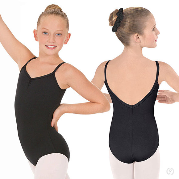 Online Only**Eurotard Girls Pinch Front Camisole Leotard with Tactel® Microfiber - Dancetastic Dancewear
