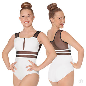 Eurotard Womens Striped Mesh 2.0 Leotard - Dancetastic Dancewear