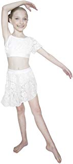 HDW Dancewear Lace Child Crop Top - Dancetastic Dancewear