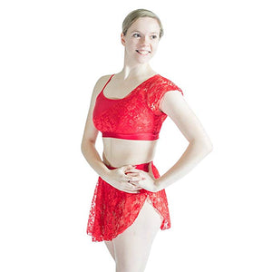 HDW Dancewear Adult Lace Skirt with Attached Brief - Dancetastic Dancewear