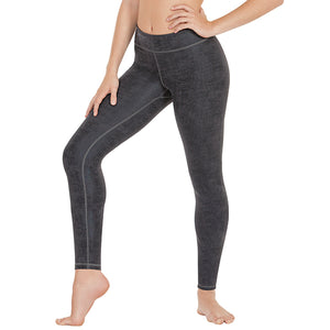 Eurotard Womens Faux Leather Microfiber Leggings with Interior Key Pocket - Dancetastic Dancewear